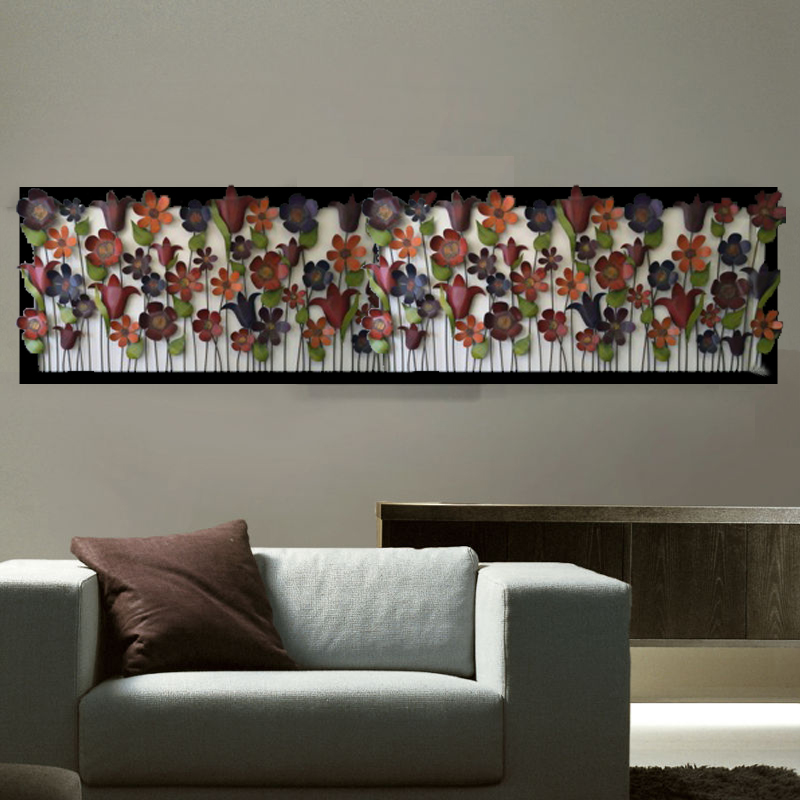 Living room metal wall art
